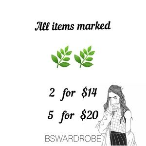🌿🌿 Marked items are 2/$14 or 5/$20 🌿🌿